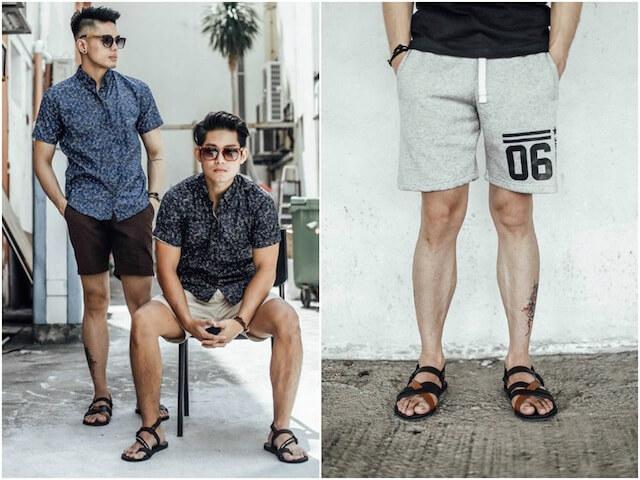 Quần short với sandal nam (Nguồn hình: The Honeycombers)
