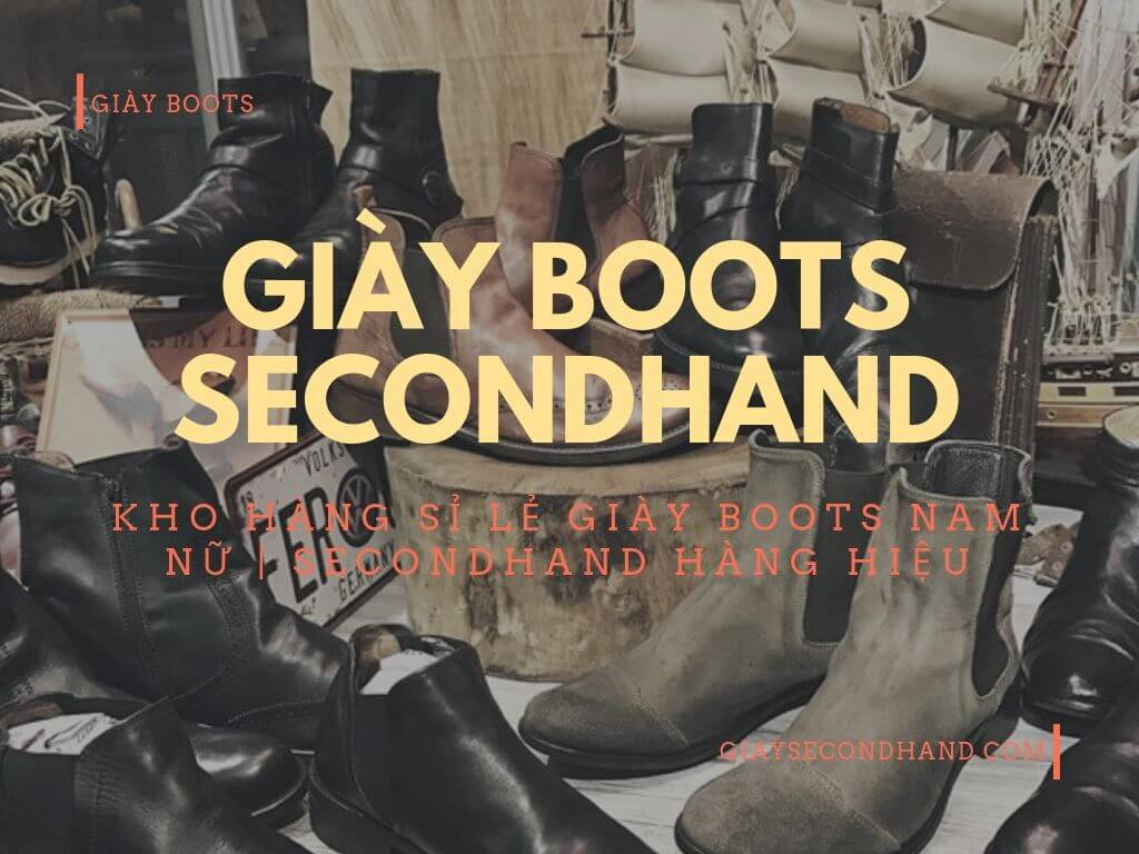 Giày boots secondhand