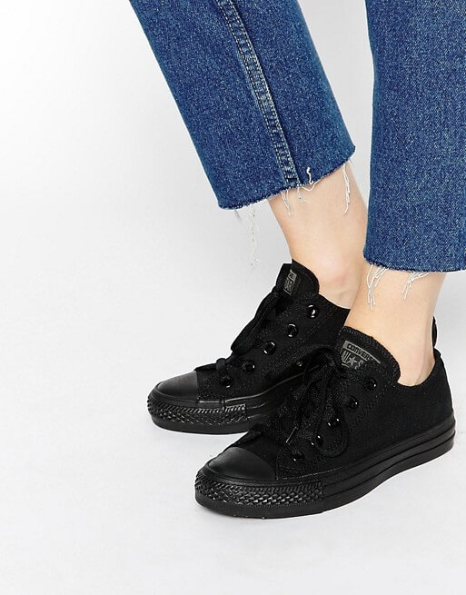 Giày converse đen Chuck Taylor All Star Ox Black Monochrome