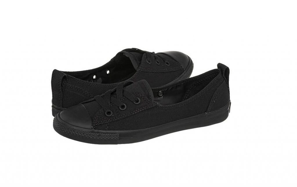 Chuck Taylor All Star Ballet Lace Slip in Black Monochrome