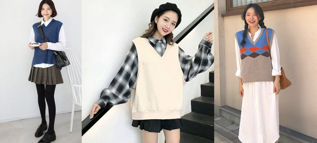 phong cach layer voi ao sweater gillet