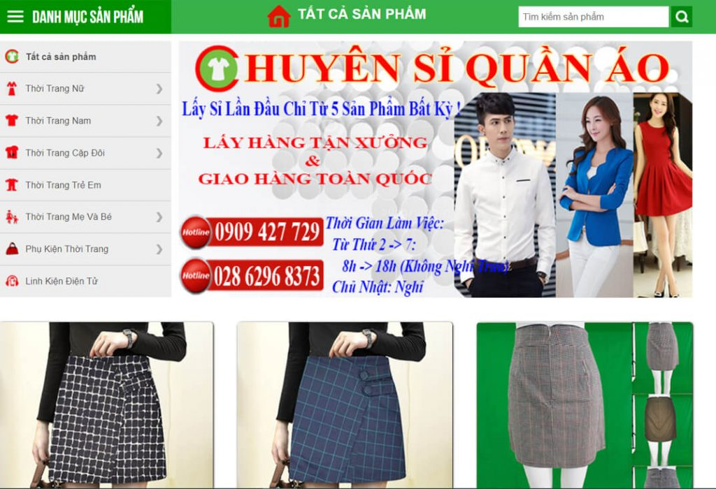 hinh anh website chuyensiquanao