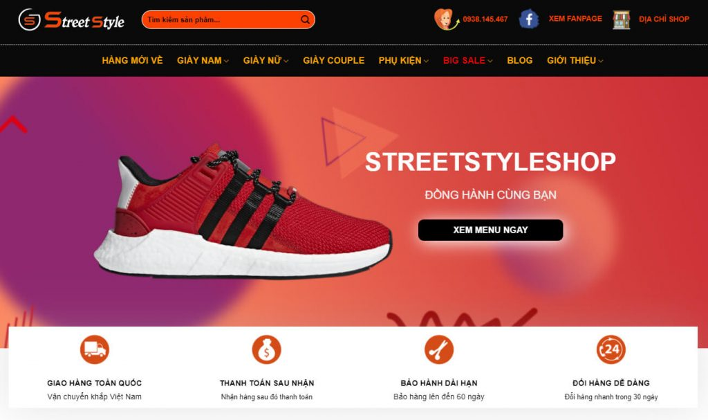 hinh anh website streestyleshop.vn